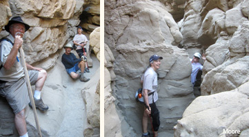 hiking borrego mountain slot canyon in anza borrego